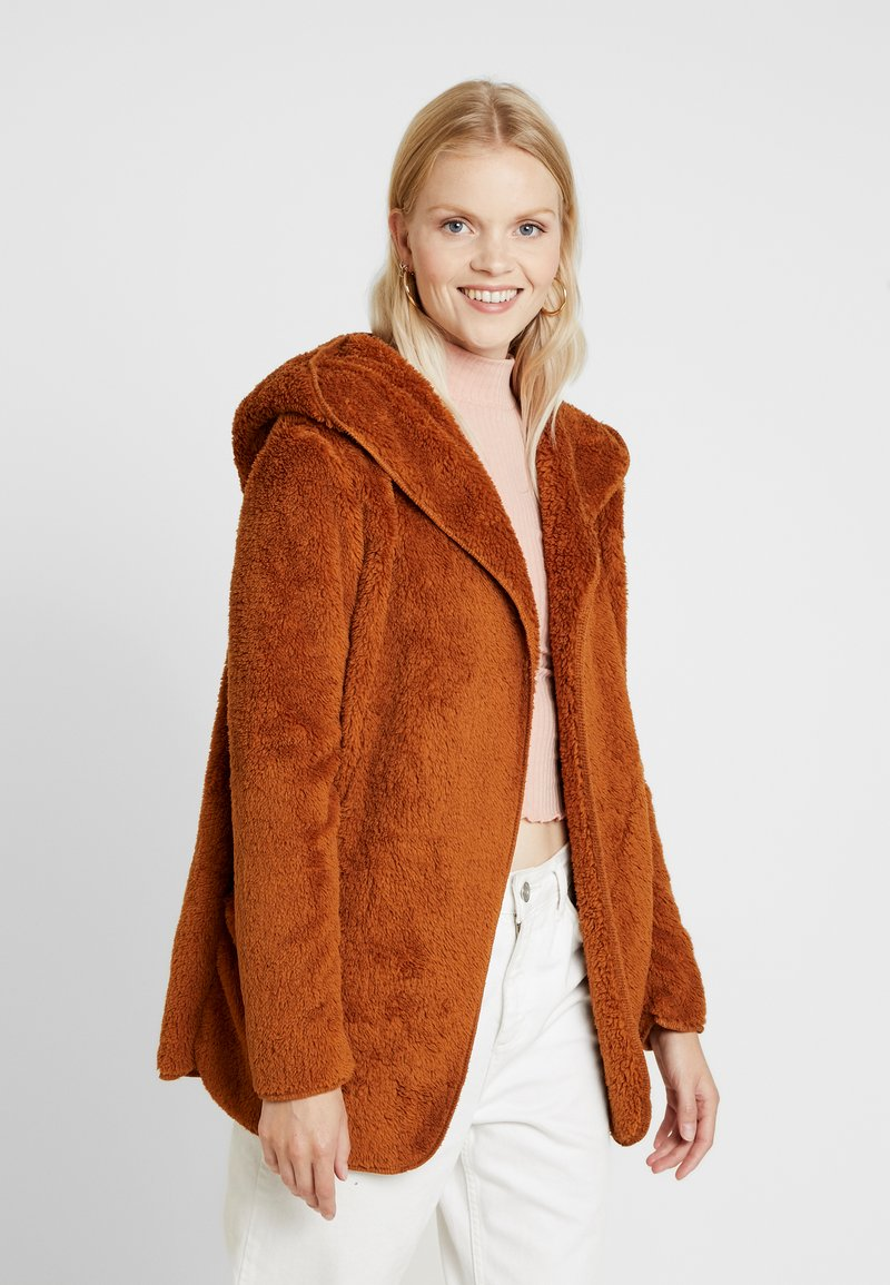 ONLY - ONLNEW CONTACT HOODED - Winter jacket - caramel café