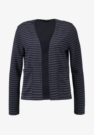 ONLBERIL OPEN SHORT CARDIGAN - Kardigan - medium grey melange/blue/black