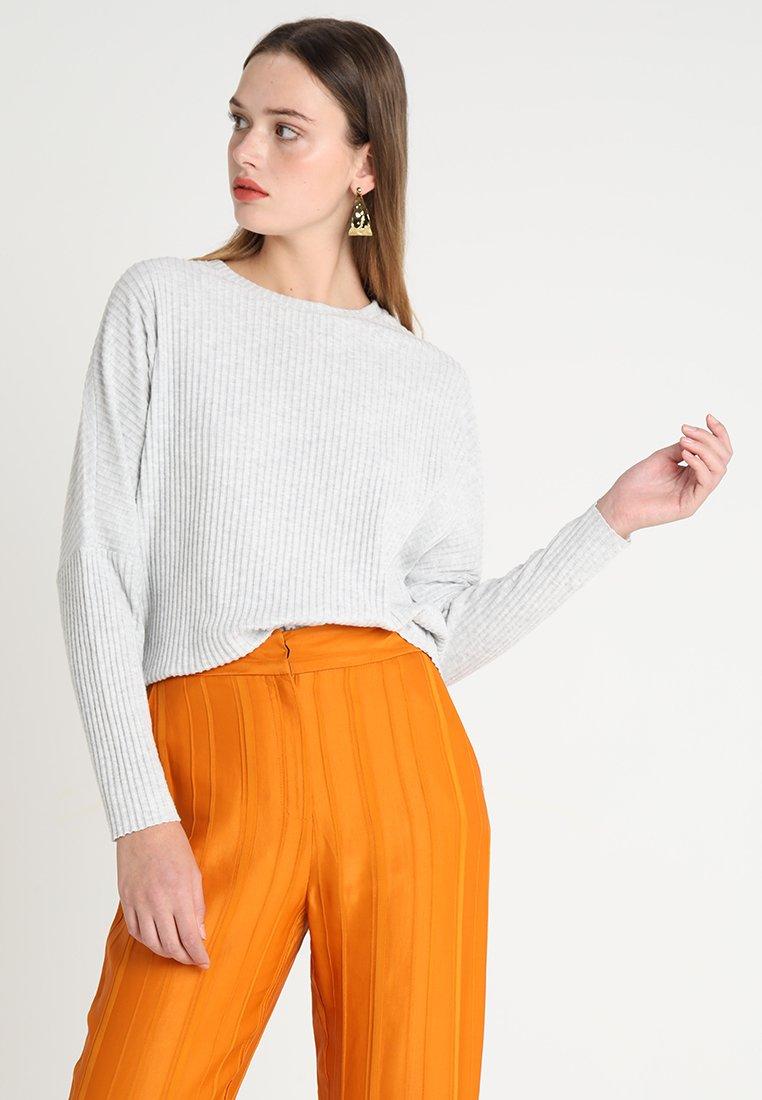 ONLY - ONLBANK - Strickpullover - light grey melange