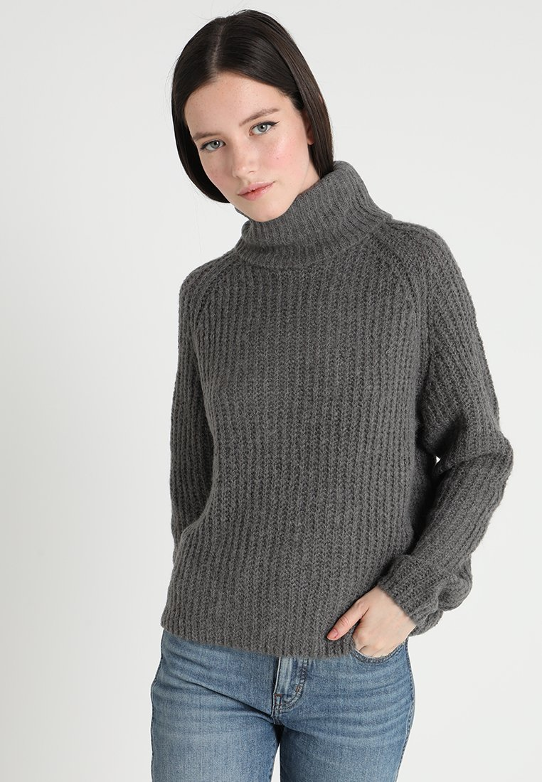 ONLY - ONLVEGA ROLLNECK  - Pullover - dark grey melange