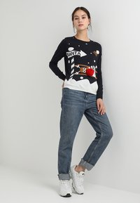 ONLY - ONLX MAS CHRISTMAS - Strickpullover - night sky/cloud dancer/rubber - 1