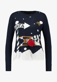 ONLY - ONLX MAS CHRISTMAS - Strickpullover - night sky/cloud dancer/rubber - 3