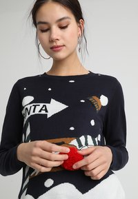 ONLY - ONLX MAS CHRISTMAS - Strickpullover - night sky/cloud dancer/rubber - 4