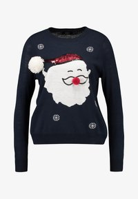 ONLY - ONLX-MAS SANTA CHRISTMAS - Jumper - night sky/cloud dancer/samba red - 3