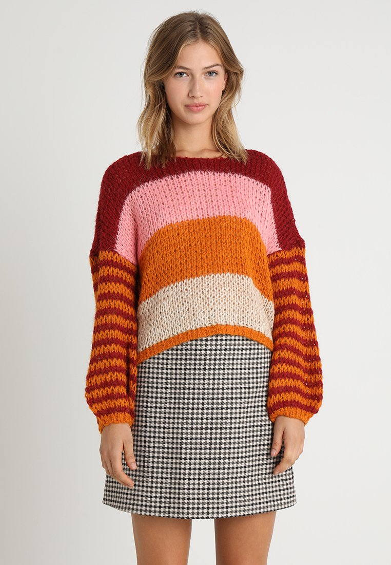 ONLY - ONLCARLE - Strickpullover - sun dried tomato/flamingo pink