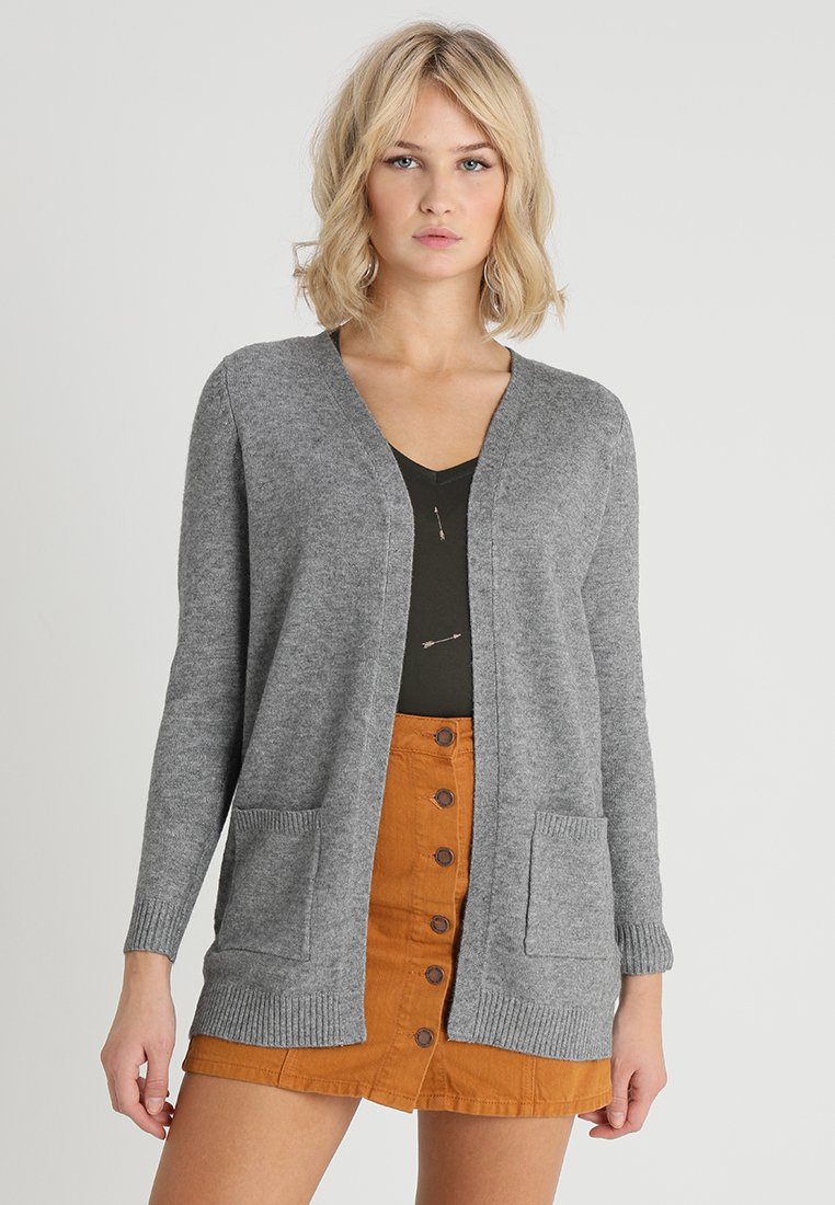 ONLY - ONLLESLY OPEN CARDIGAN - Cardigan - medium grey melange