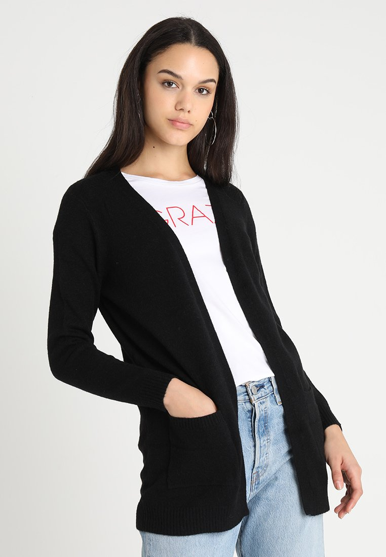 ONLY - ONLLESLY OPEN CARDIGAN - Kofta - black