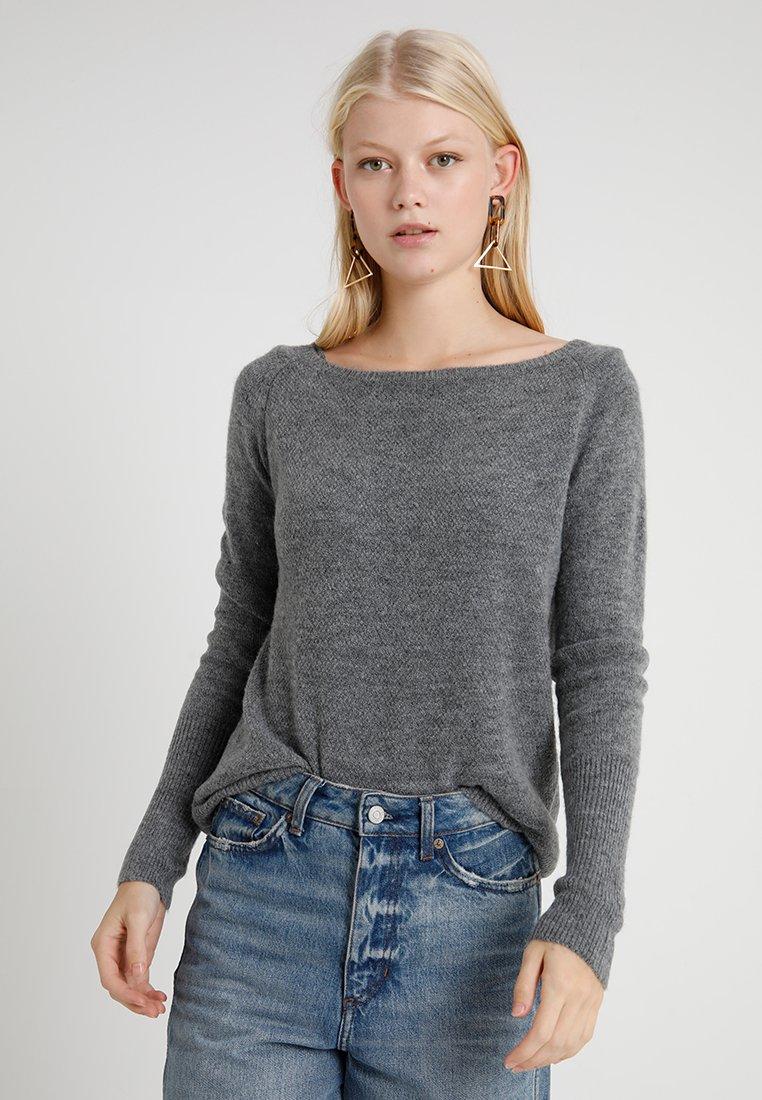 ONLY - ONLVICKY - Strickpullover - medium grey melange