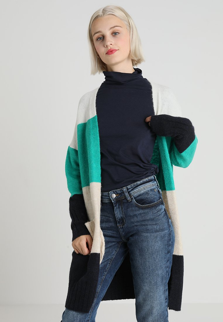 ONLY - ONLJOSIE CARDIGAN - Cardigan - cloud dancer/simply green melange