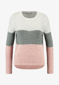 ONLY - ONLGEENA - Strickpullover - cloud dancer/chinois green/rose - 3