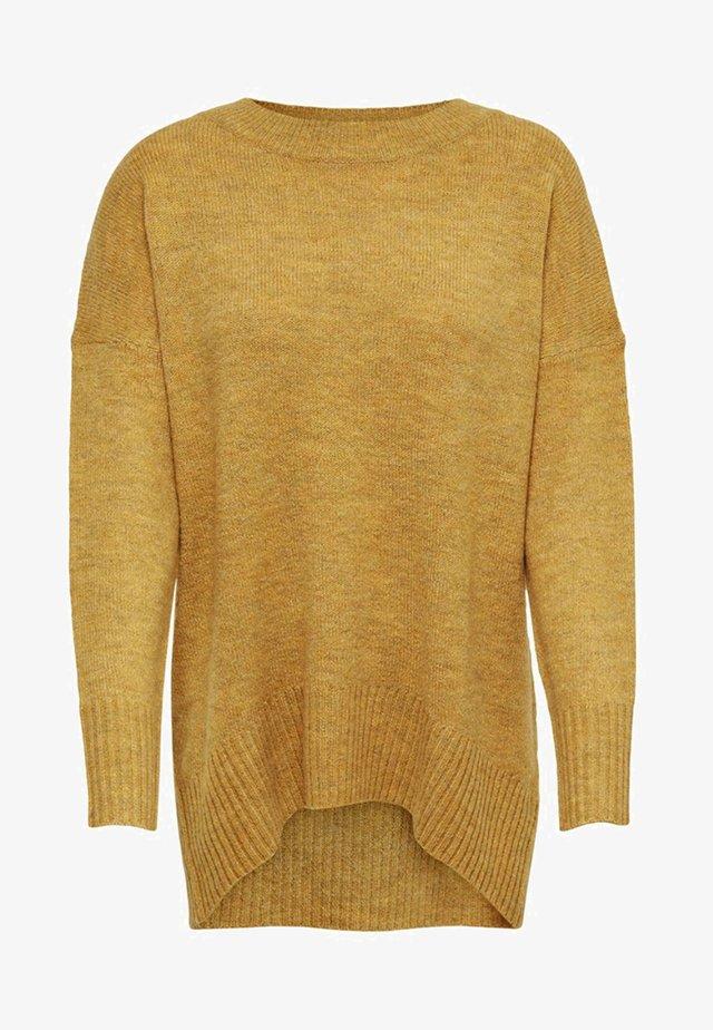 Strikkegenser - golden yellow