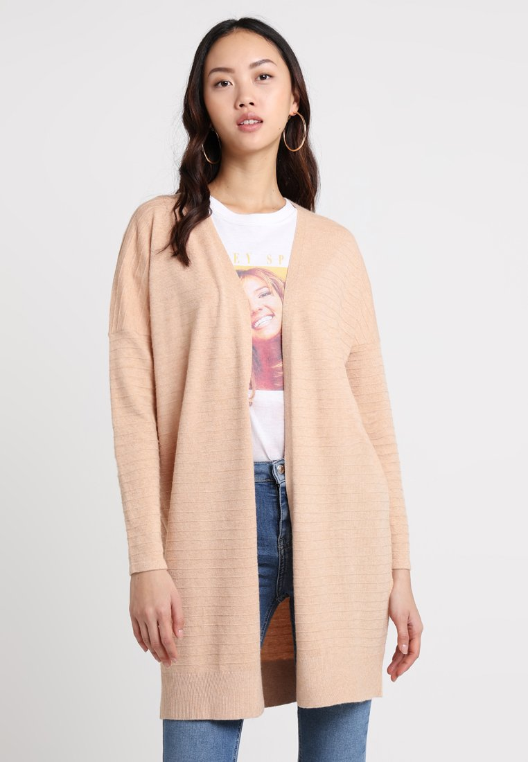 ONLY - ONLKAMMI CARDIGAN - Strickjacke - hazelnut/white melange