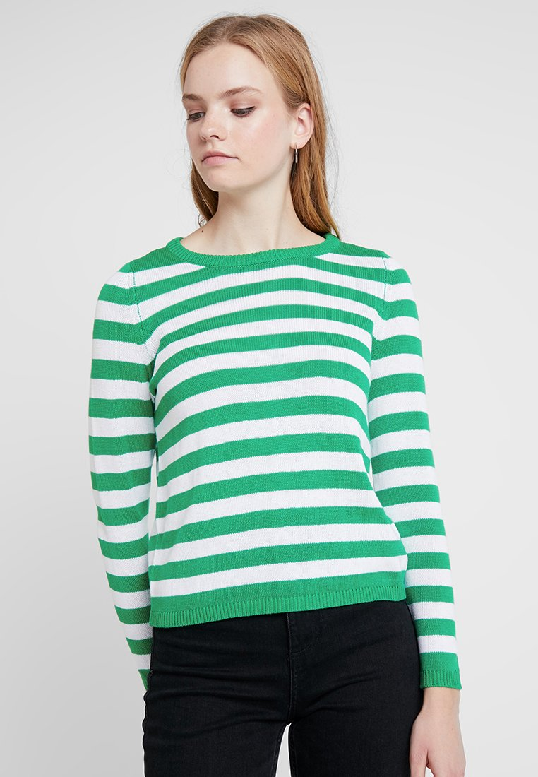 ONLY - Strickpullover - simply green/cloud dancer