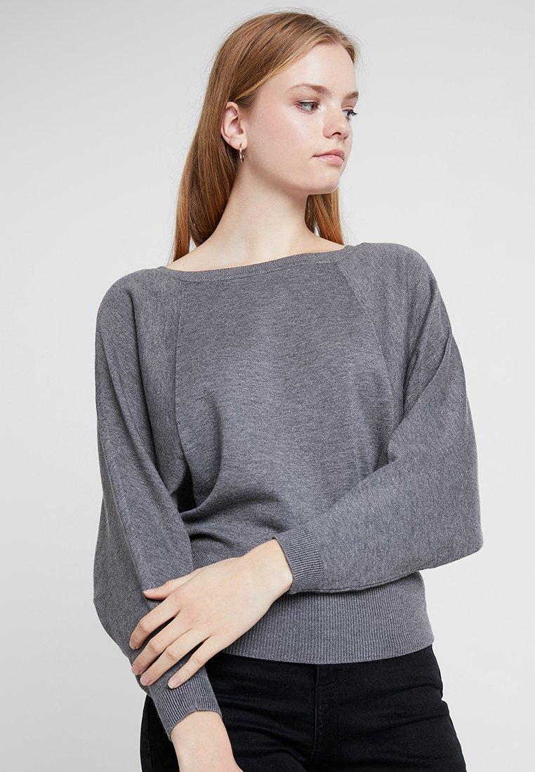 ONLY - ONLELINOR - Strickpullover - medium grey melange