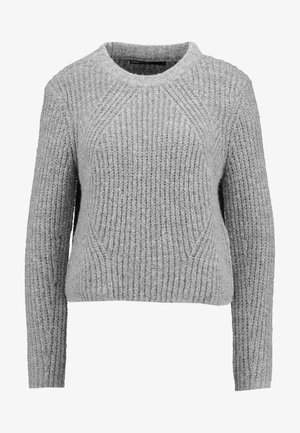 ONLFIONA - Jumper - medium grey melange/black melange