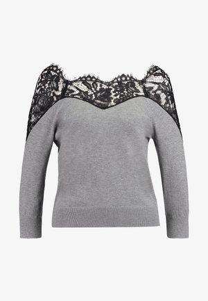 Pullover - medium grey/black