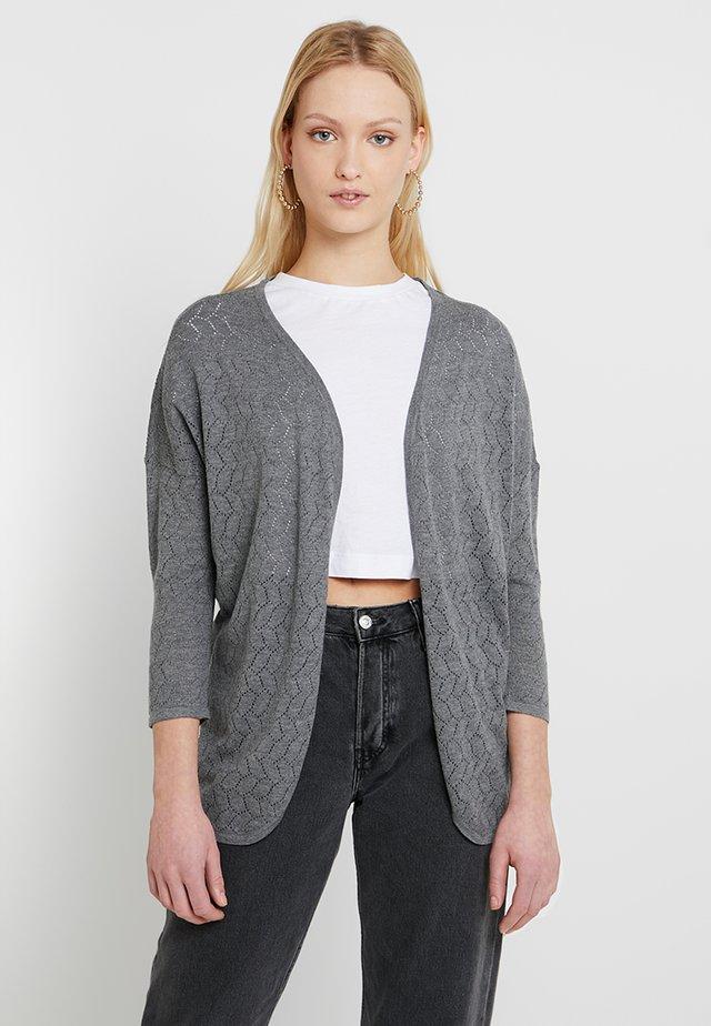 ONLCHLOE 7/8 CARDIGAN - Cardigan - medium grey melange