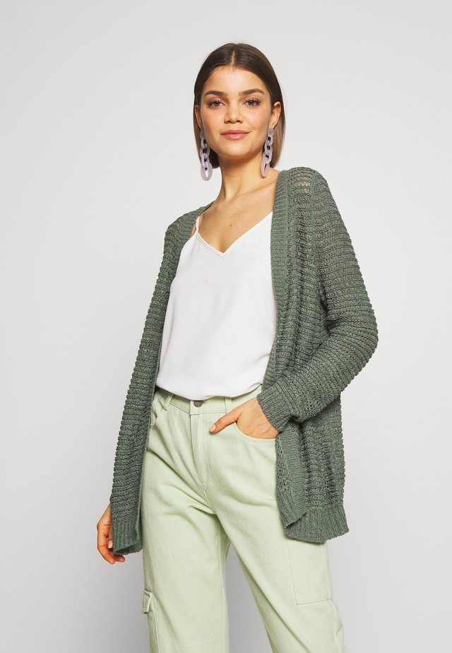 ONLELLI CARDIGAN - Cardigan - balsam green