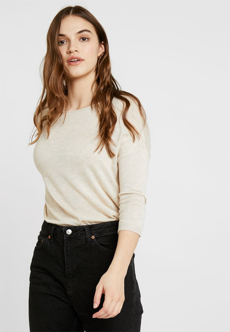 ONLY - ONLMARY STRING - Strickpullover - pumice stone/melange