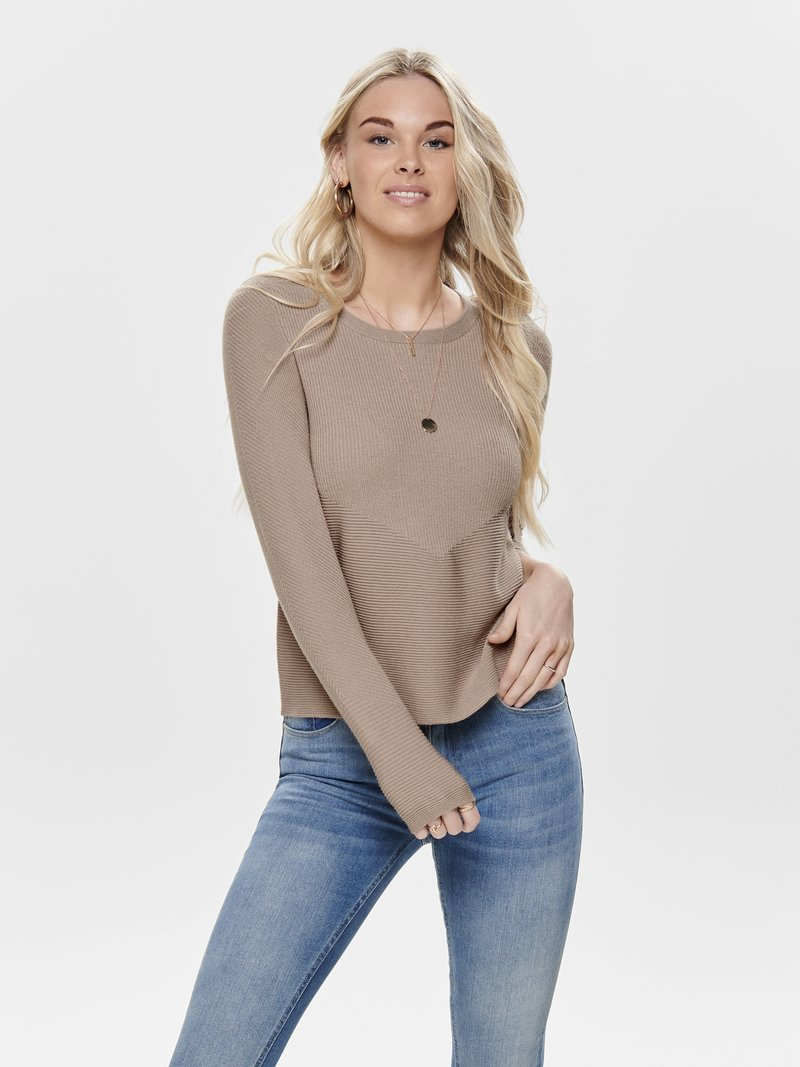 ONLY - Strickpullover - gray