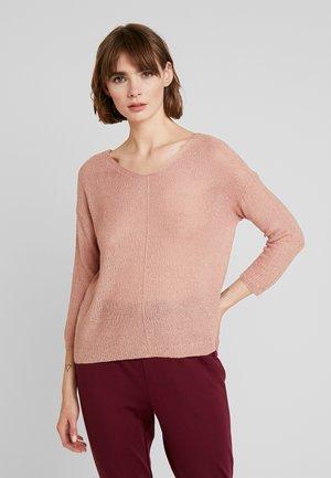 ONLTHEA V NECK LIGHT - Sweter - misty rose