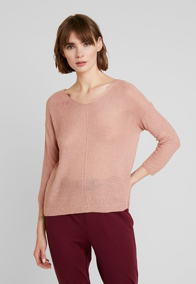 ONLTHEA V NECK LIGHT - Jersey de punto - misty rose