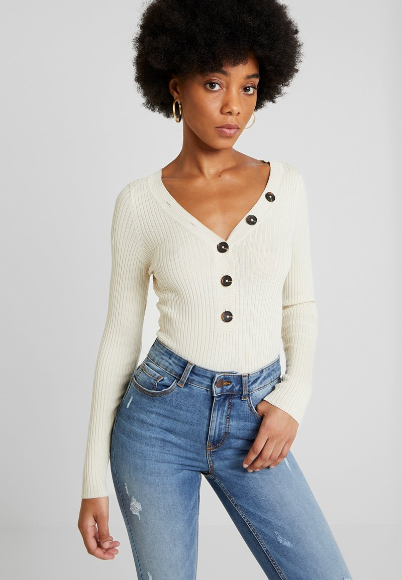 ONLY - ONLIZA V NECK - Trui - almond milk