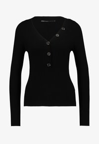 ONLY - ONLIZA V NECK - Trui - black - 4