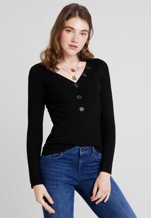 ONLIZA V NECK - Pullover - black