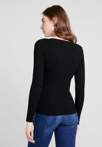 ONLY - ONLIZA V NECK - Trui - black - 2