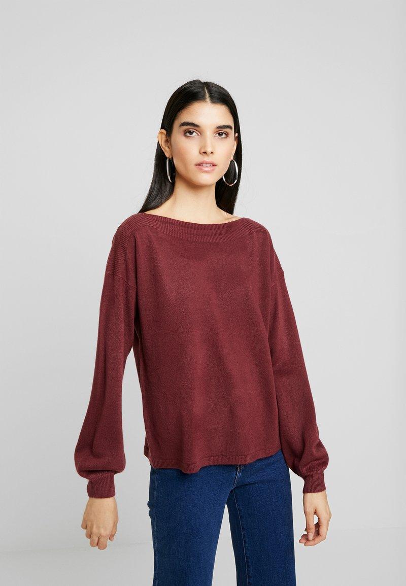 ONLY - ONLJESSIE  - Sweter - tawny port