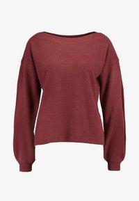 ONLY - ONLJESSIE  - Sweter - tawny port - 3