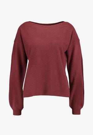 ONLJESSIE  - Stickad tröja - tawny port