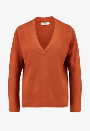 ONLJESSIE V NECK - Jumper - ginger bread