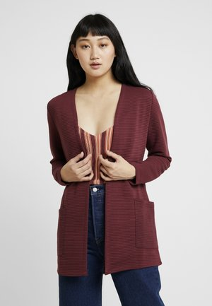 ONLKIMBERLY JOYCE LONG CARDIGAN - Gilet - dark purple