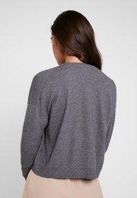 ONLY - ONLLEAH CARDIGAN - Cardigan - medium grey melange - 2