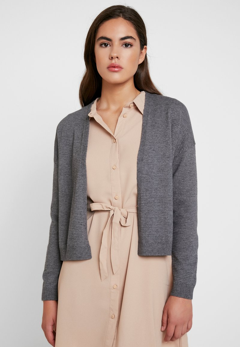 ONLY - ONLLEAH CARDIGAN - Strickjacke - medium grey melange