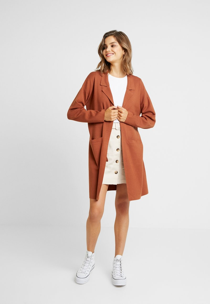 ONLY - ONLMIMI LONG CARDIGAN  - Strickjacke - picante