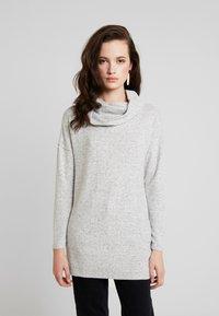 ONLY - ONLKLEO ROLLNECK - Pullover - light grey melange/ black melange - 0