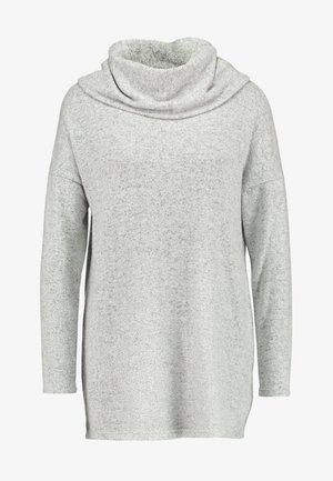 ONLKLEO ROLLNECK - Strikkegenser - light grey melange/ black melange