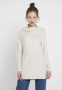 ONLY - ONLKLEO ROLLNECK - Pullover - rose dawn/white melange - 0