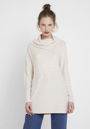 ONLKLEO ROLLNECK - Pullover - rose dawn/white melange