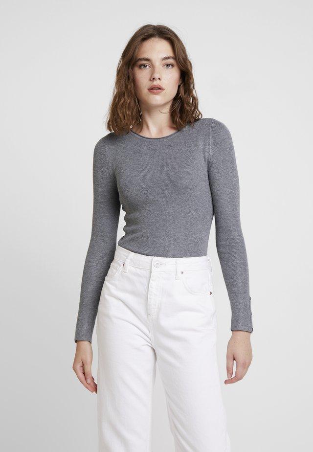 ONLIZA BUTTON - Jersey de punto - medium grey melange