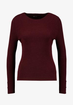 ONLIZA BUTTON - Jumper - tawny port