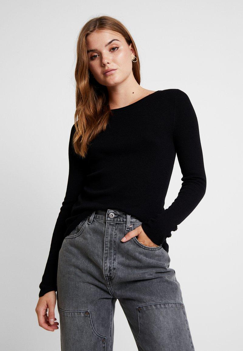 ONLY - ONLIZA BUTTON - Jersey de punto - black