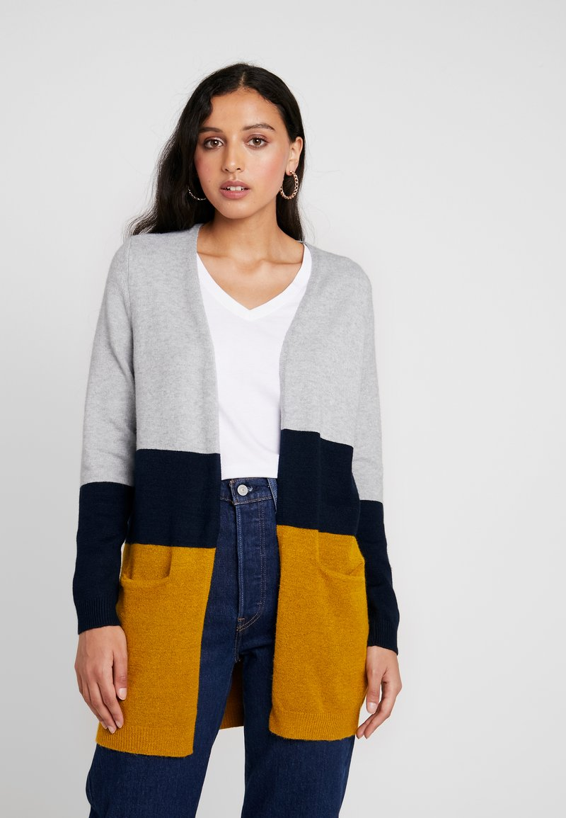 ONLY - ONLQUEEN LONG CARDIGAN - Cardigan - chai tea/night sky/light grey melange