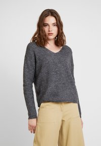 ONLY - ONLMARIE V NECK - Jumper - medium grey melange - 0