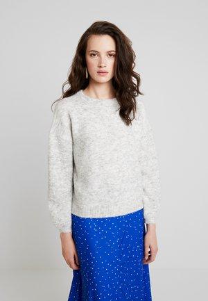 ONLROSIE - Stickad tröja - light grey melange