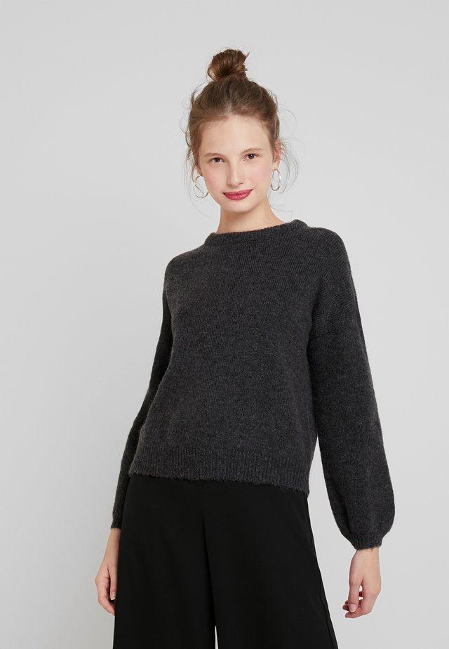ONLROSIE - Jersey de punto - dark grey melange