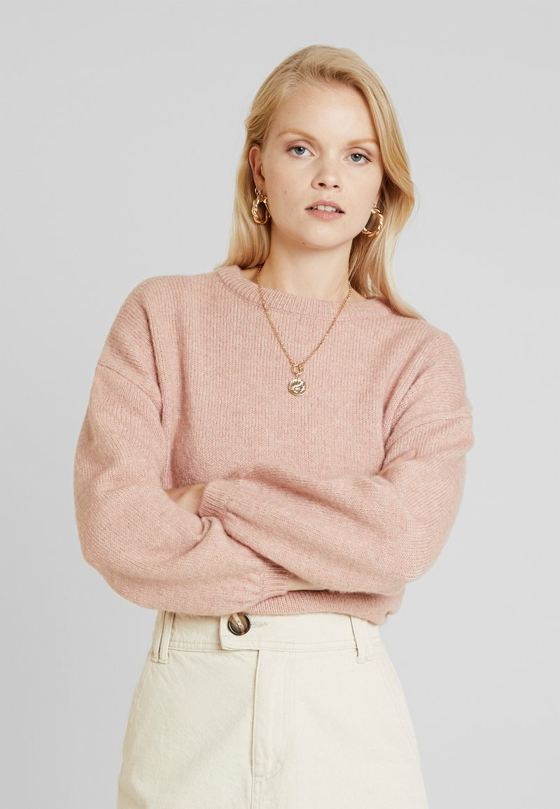 ONLY - ONLROSIE - Strickpullover - misty rose melange